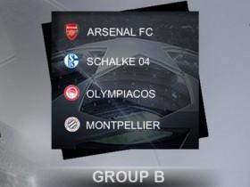 2012-13【欧冠胜经】32强B组:阿森纳、沙尔克04、奥林比亚高斯、蒙彼利埃