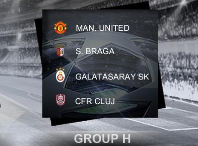 2012-13【欧冠胜经】32强H组:曼联、布拉加、加拉塔沙雷、克卢日