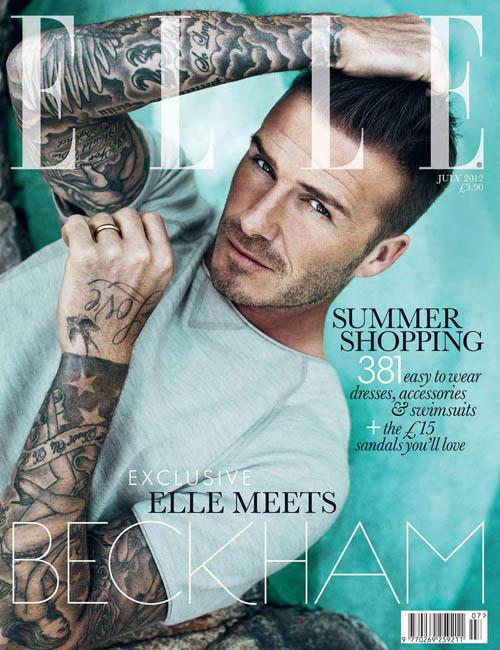 万人迷贝克汉姆性感登ELLE UK 7月刊封面