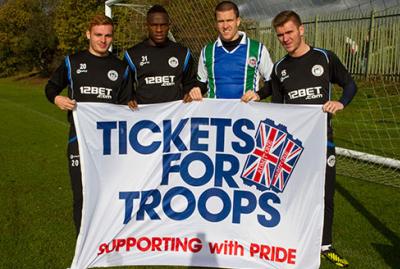 部队免费获得50000张英超联赛门票