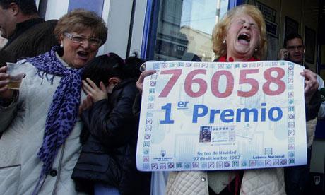 """西班牙年度圣诞""""大肥仔""""(El Gordo)彩票派彩100亿"""